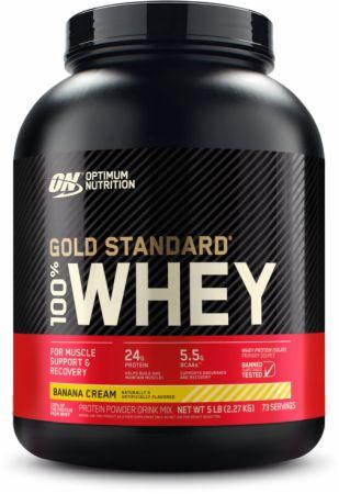 "image of אבקת חלבון Gold Standard Whey | גולד סטנדרט 2.27 ק""ג בטעם בננה"