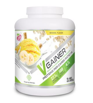 image of אבקת V-Gainer | וי-גיינר. גיינר טבעוני ללא חלב - 3.15 ק״ג